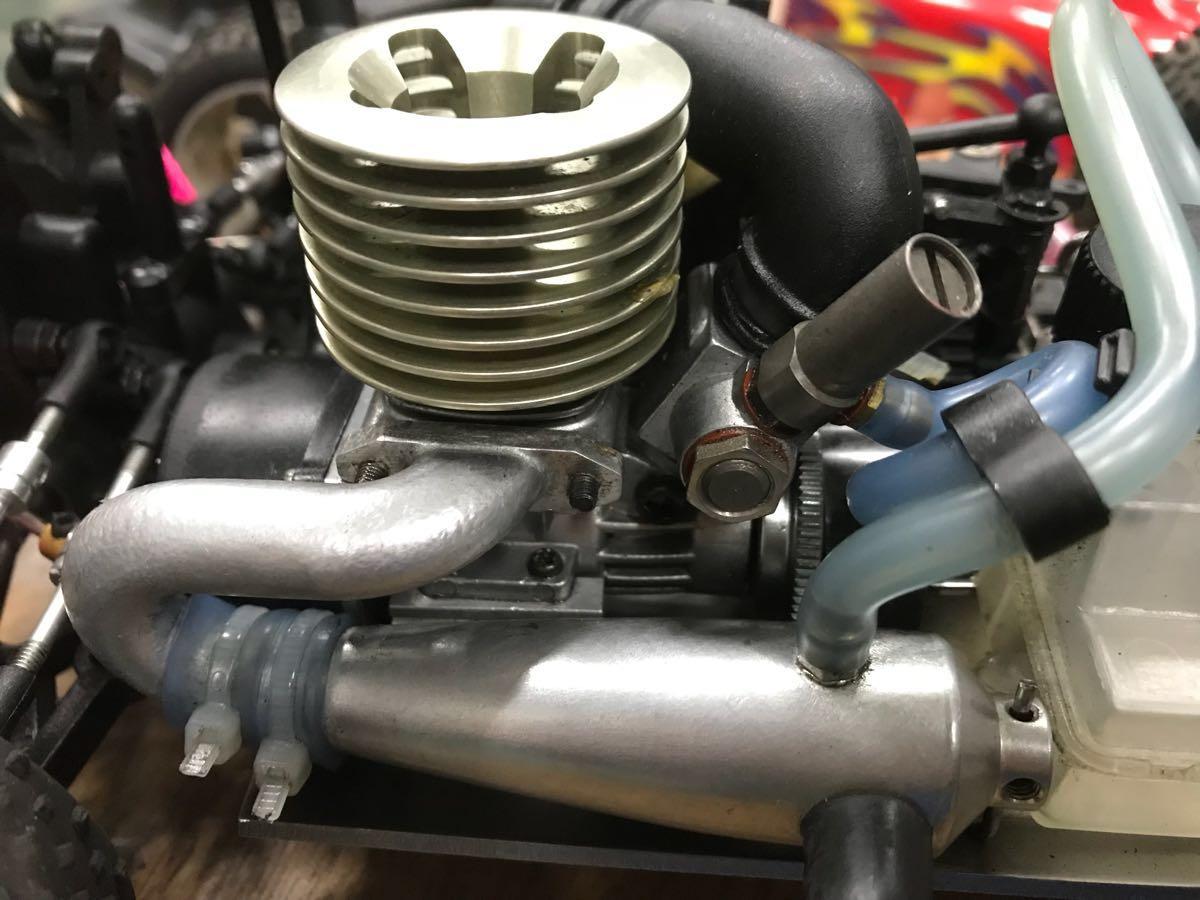 MIWI 1/16スケール4WDエンジンRCカー動作確認済み一応ジャンク_画像8