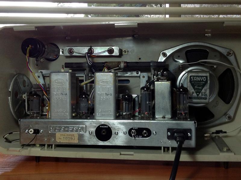 真空管ラジオ サンヨー SS-90(Hi-Fi)【整備済】_画像2
