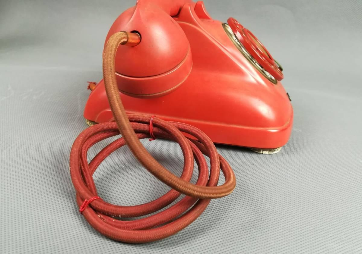 激レア!赤色 4号A自動式電話機 公衆電話機 赤 名古屋電気通信工作工場_画像4