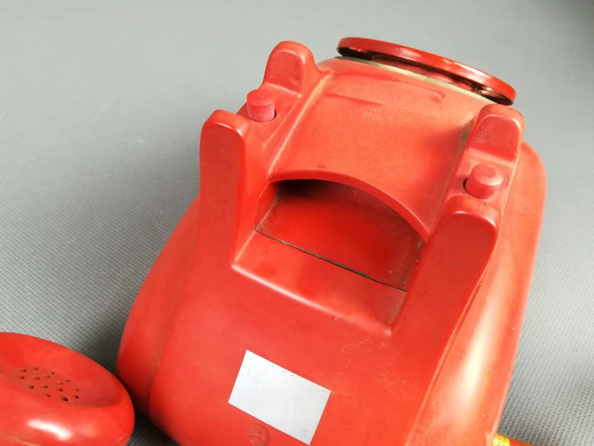 激レア!赤色 4号A自動式電話機 公衆電話機 赤 名古屋電気通信工作工場_画像7