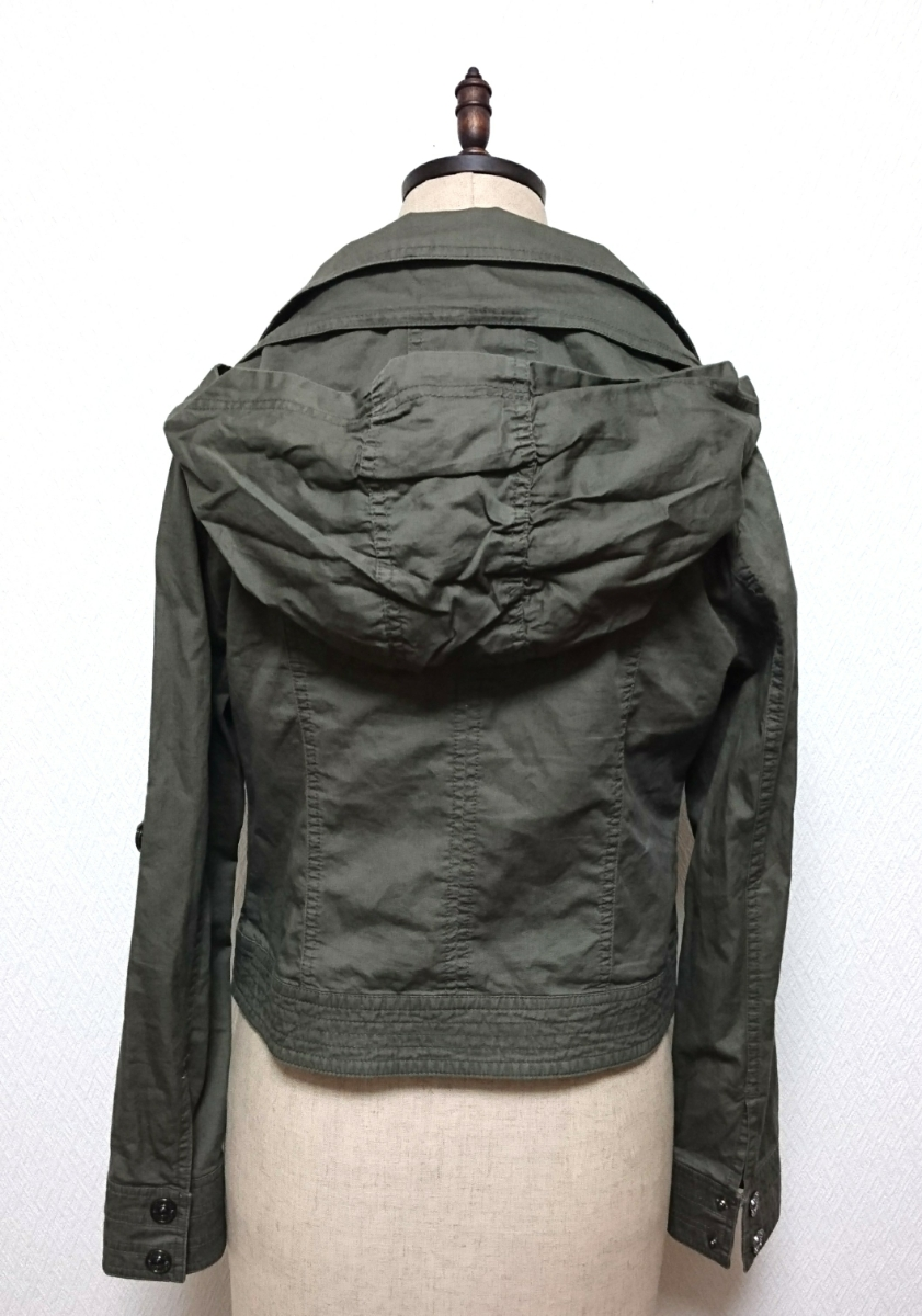 【CECIL McBEE】 セシルマクビー フード付き ジップアップ ミリタリー シャツジャケット Mサイズ