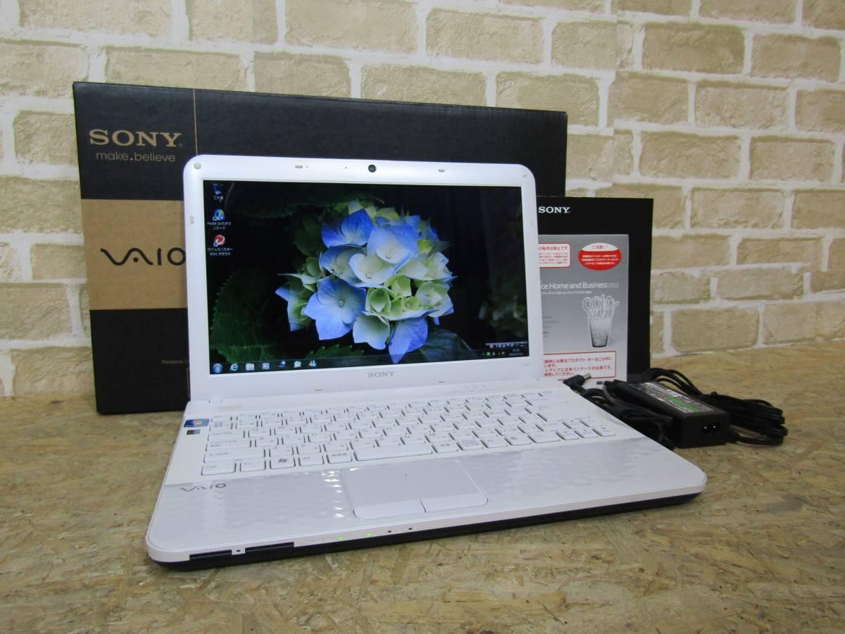 SONY/ソニー VAIO PCG-61B11N AMD E-450 APU 1.65GHz メモリ2GB HDD500GB Windows 7 Home Premium(W-1280)