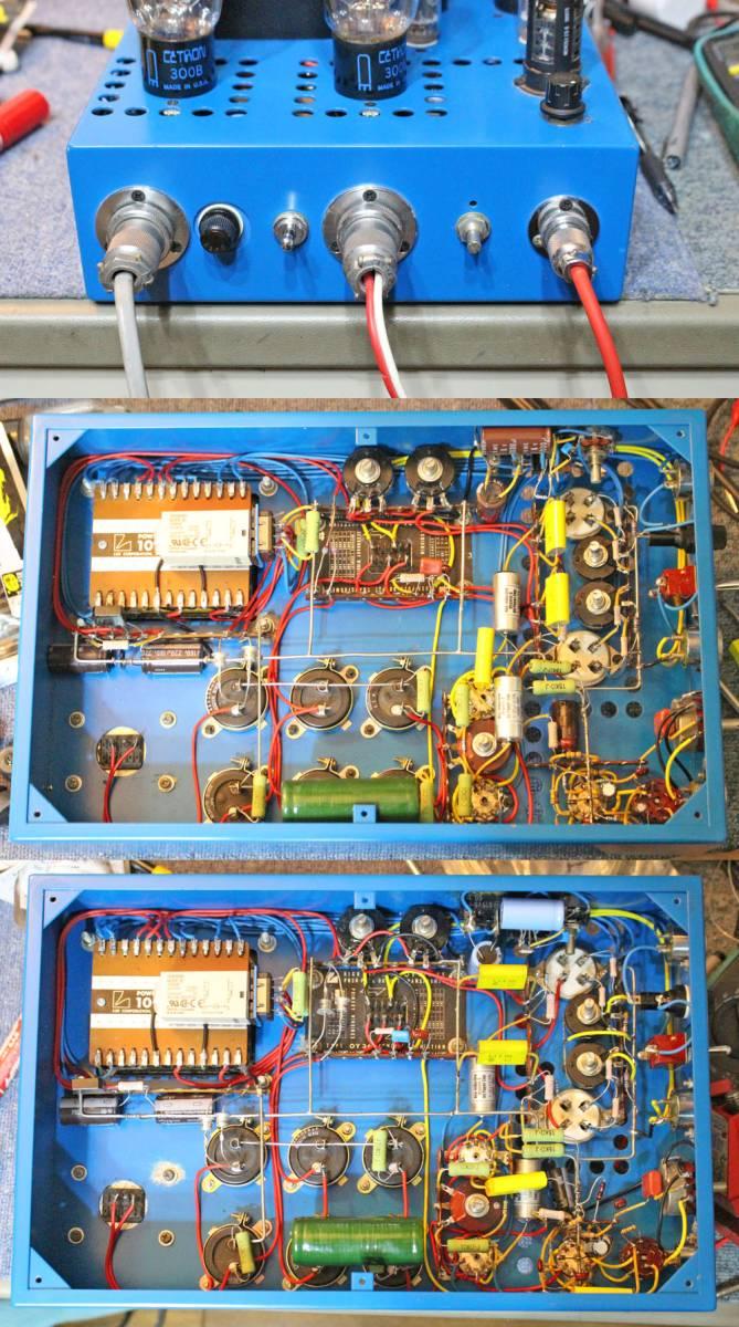 極上の音作り!Cetron 300B PP 自作管球式モノブロックアンプ ペア完動品_画像4
