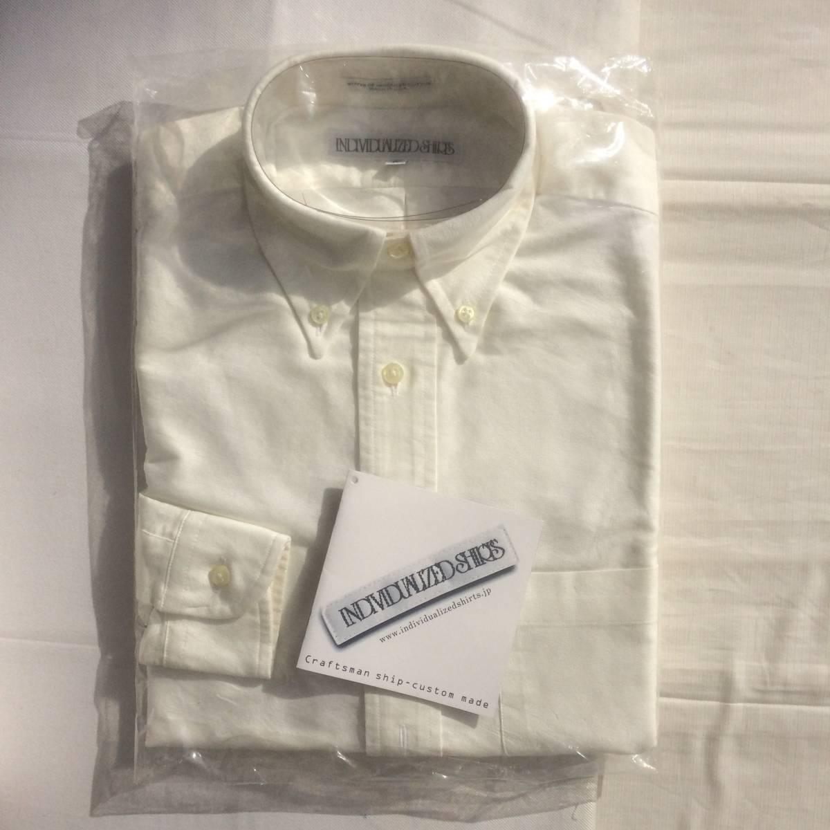 INDIVIDUALIZED SHIRTS インディビジュアライズドシャツ ダンリバー オックスフォード BD 白 ホワイト 長袖 シャツ xxs 13.5 usa製_画像3