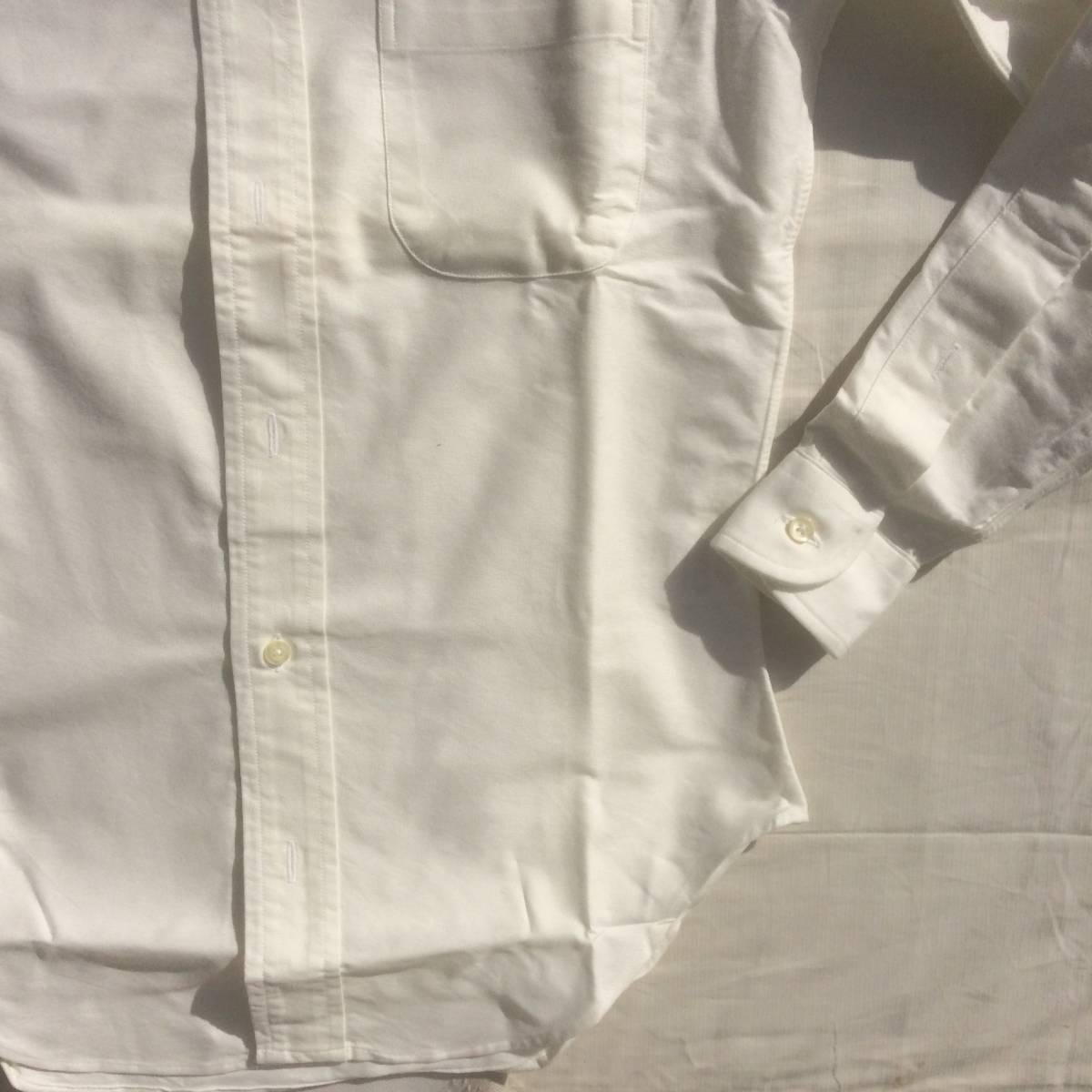 INDIVIDUALIZED SHIRTS インディビジュアライズドシャツ ダンリバー オックスフォード BD 白 ホワイト 長袖 シャツ xxs 13.5 usa製_画像5