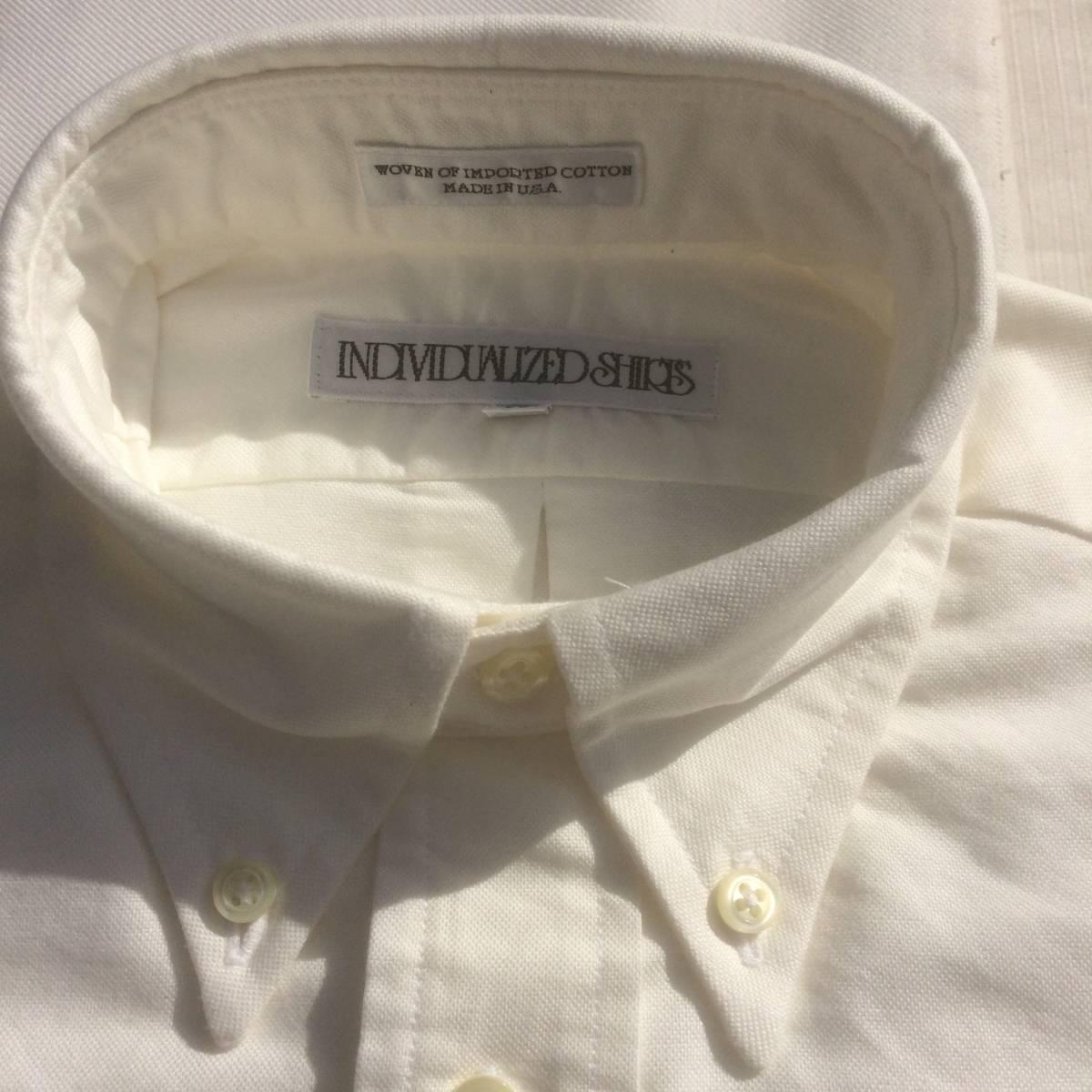 INDIVIDUALIZED SHIRTS インディビジュアライズドシャツ ダンリバー オックスフォード BD 白 ホワイト 長袖 シャツ xxs 13.5 usa製_画像4
