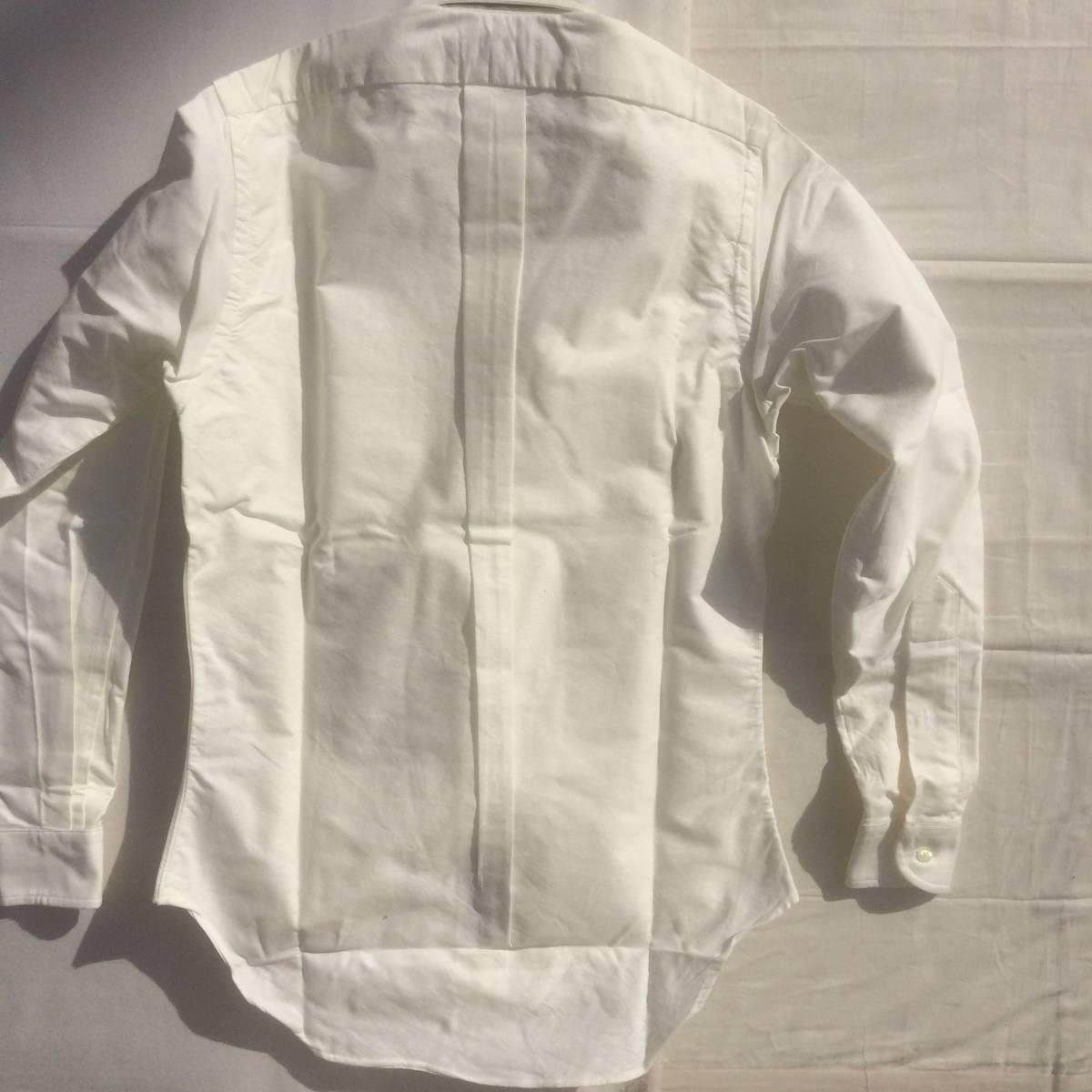 INDIVIDUALIZED SHIRTS インディビジュアライズドシャツ ダンリバー オックスフォード BD 白 ホワイト 長袖 シャツ xxs 13.5 usa製_画像6