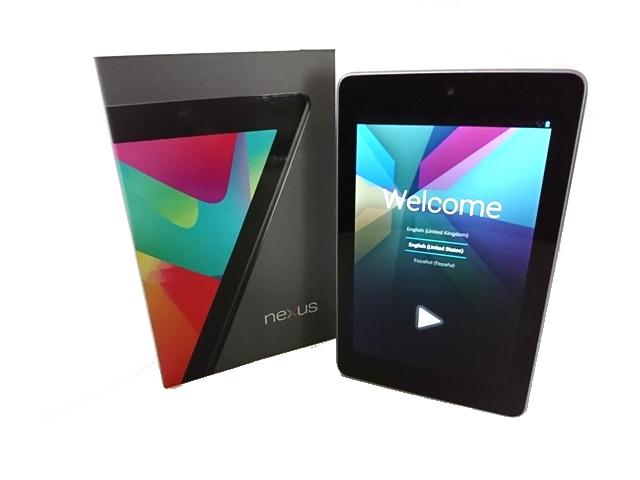 CQ019■ASUS Nexus 7 / 16GB / 2012 / ネクサス7 / アンドロイド / Android / タブレット / WiFi / 本体・箱・充電器・取説 / 中古良品