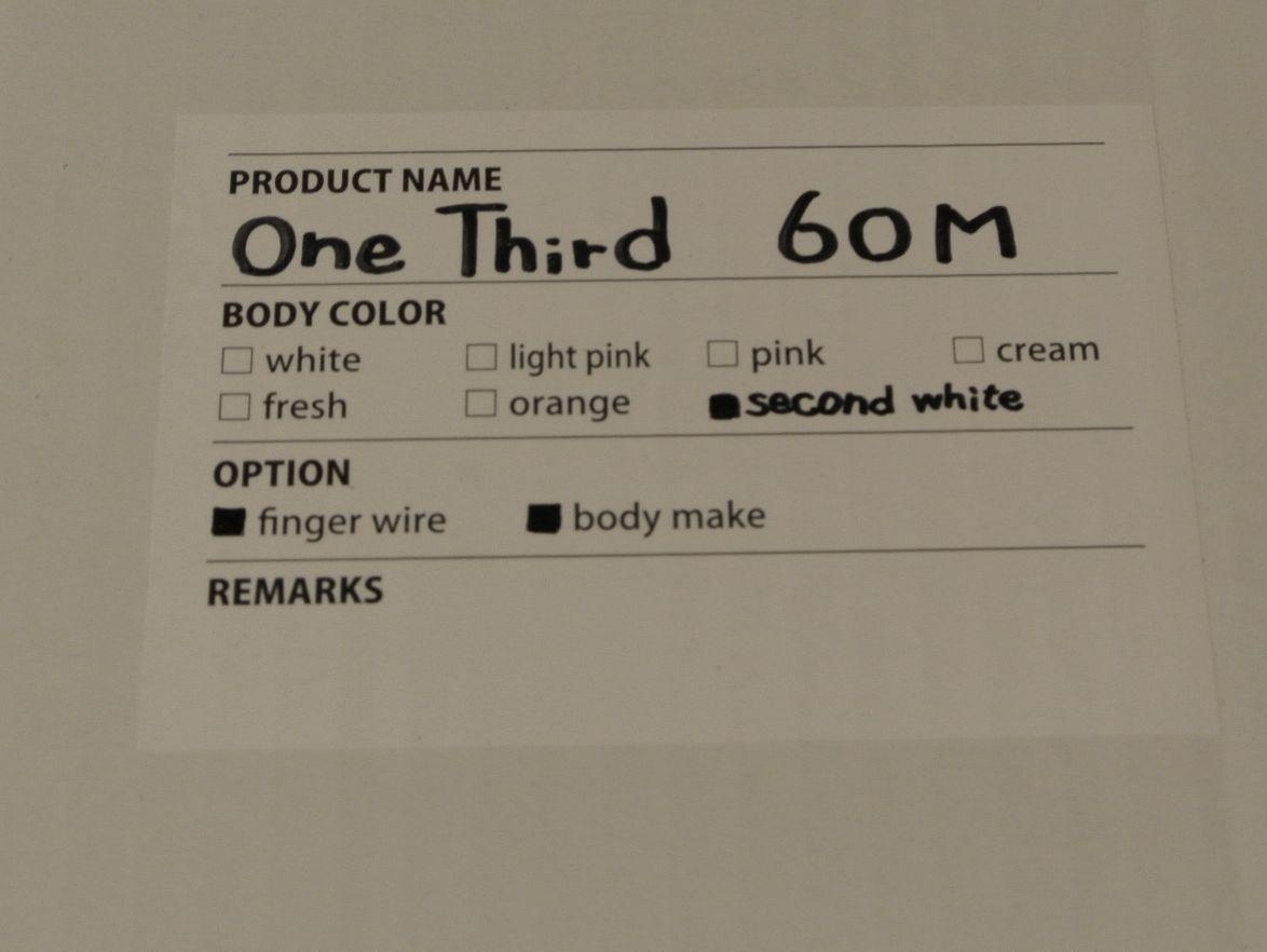 東京ドール OneThird60M Sセカンドホワイト シリコンボディ_画像8