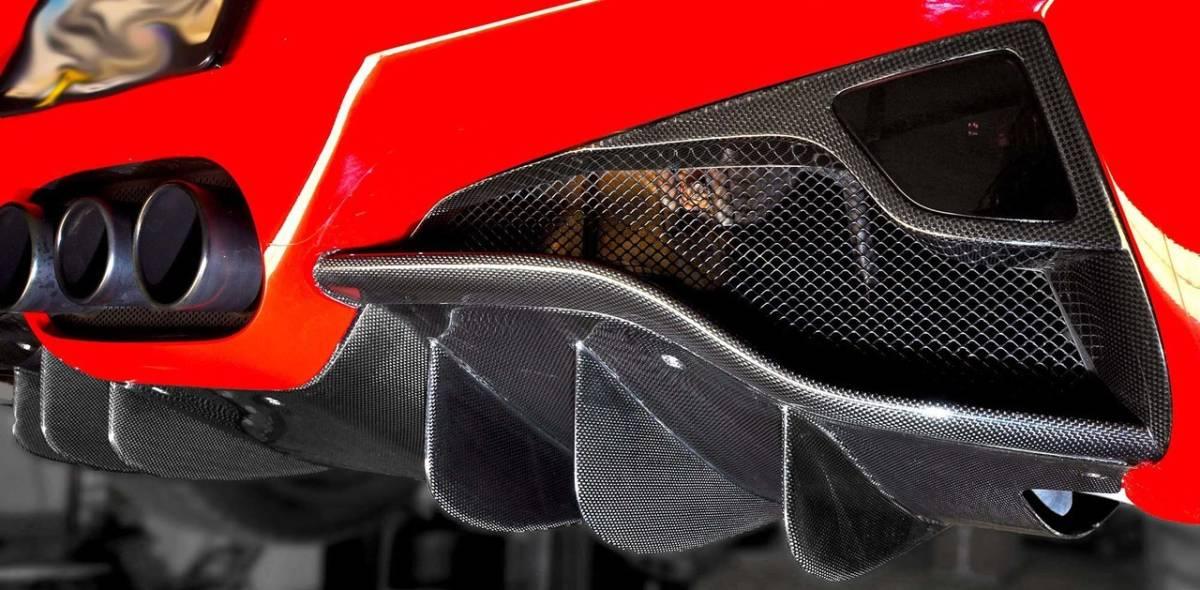 #送料無料/最高精度ドライカーボンFerrari フェラーリ458ドライカーボンリアディフューザー_画像2
