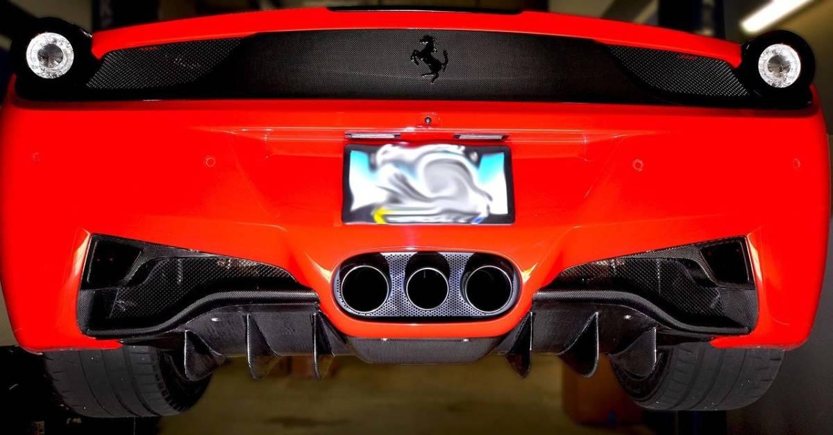 #送料無料/最高精度ドライカーボンFerrari フェラーリ458ドライカーボンリアディフューザー_画像1
