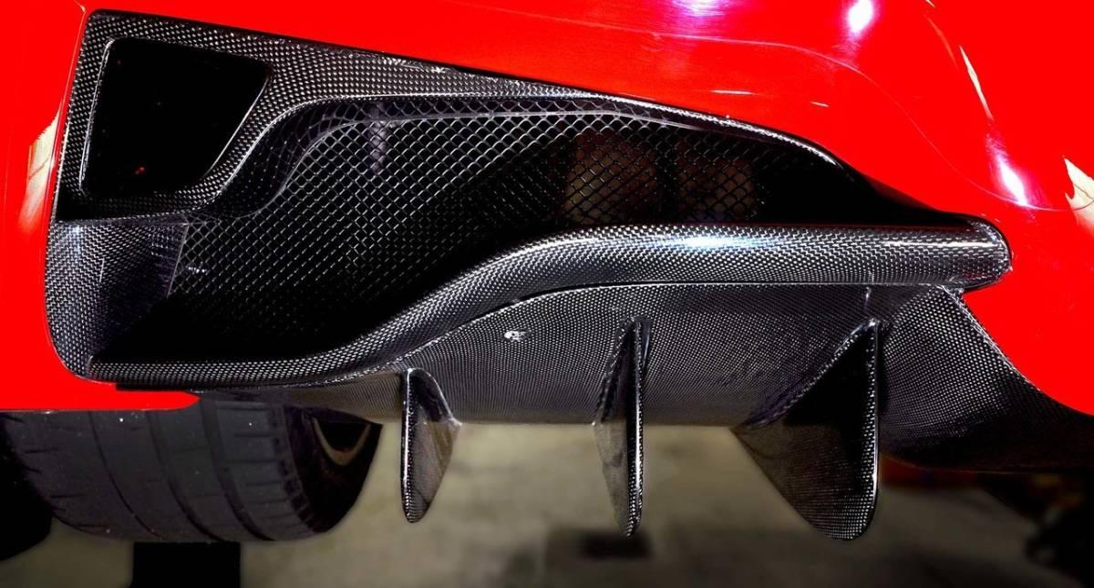 #送料無料/最高精度ドライカーボンFerrari フェラーリ458ドライカーボンリアディフューザー_画像4