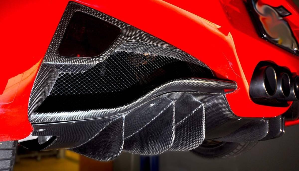 #送料無料/最高精度ドライカーボンFerrari フェラーリ458ドライカーボンリアディフューザー_画像3