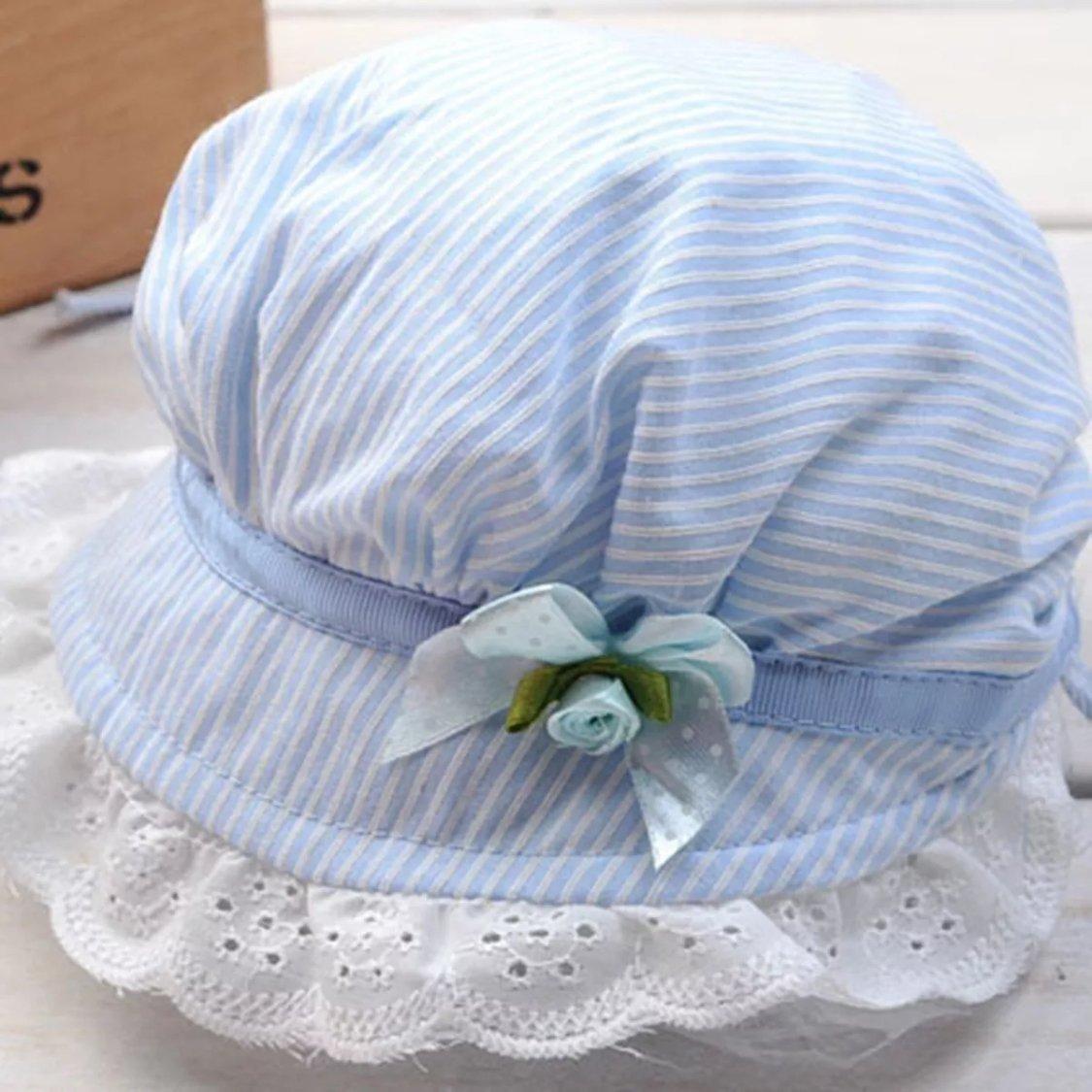 【送料無料!】赤ちゃん 昭和レトロ 帽子 ベビーボンネット リボーンドール用 新生児用 0歳児 かわいい (ブルー)