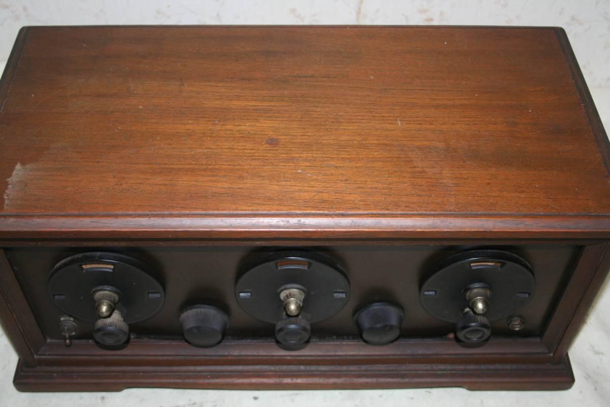 木製ケースのラジオ?無線機?ジャンク品_画像3