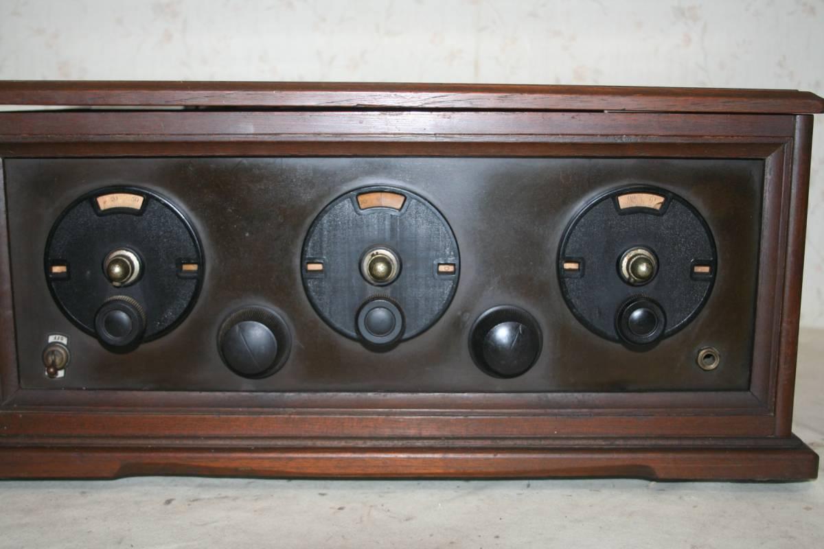 木製ケースのラジオ?無線機?ジャンク品_画像2