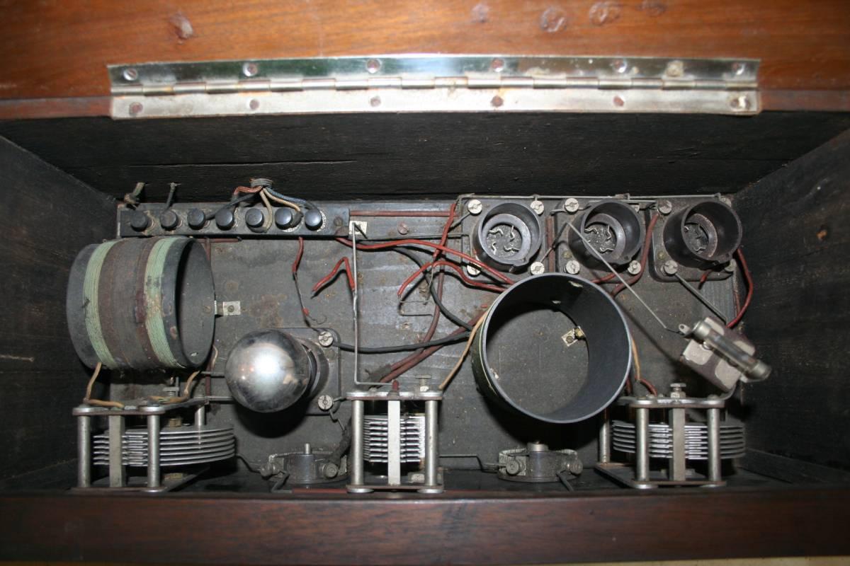 木製ケースのラジオ?無線機?ジャンク品_画像6