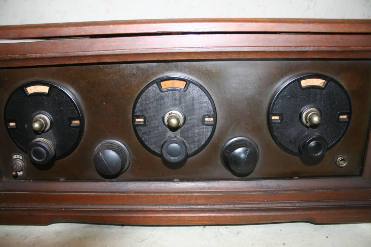 木製ケースのラジオ?無線機?ジャンク品_画像10