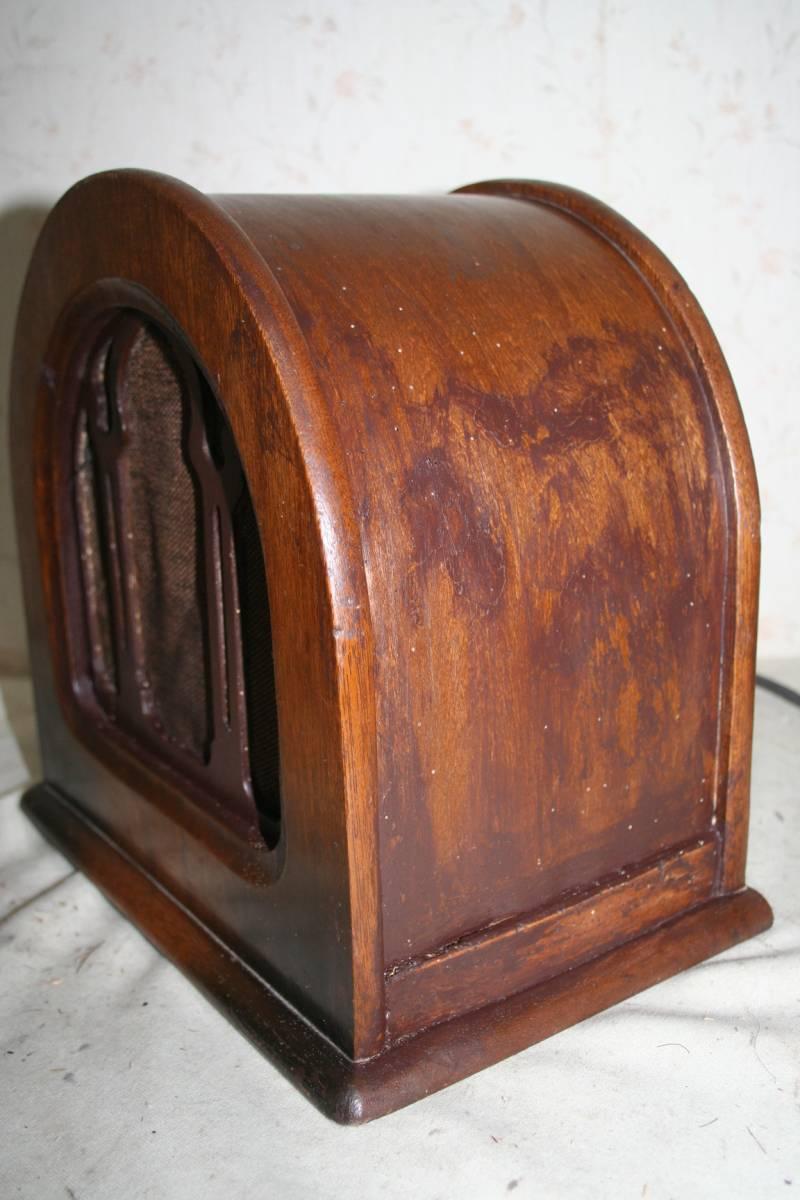 古い木製ケースのスピーカ ジャンク品_画像3