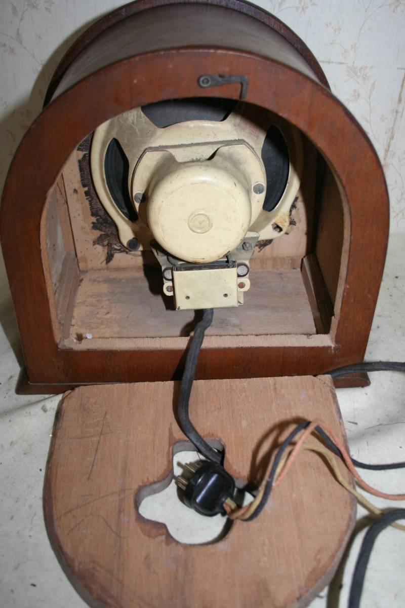 古い木製ケースのスピーカ ジャンク品_画像5