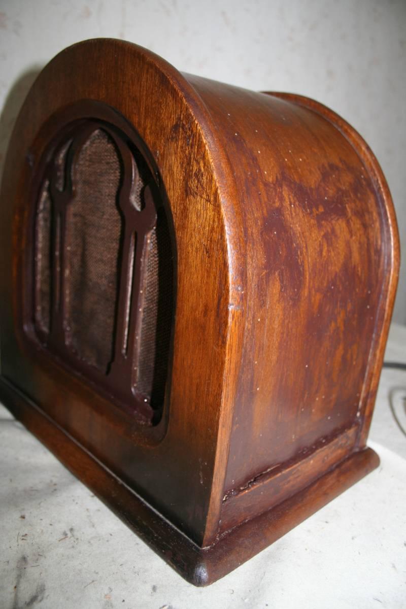 古い木製ケースのスピーカ ジャンク品_画像10