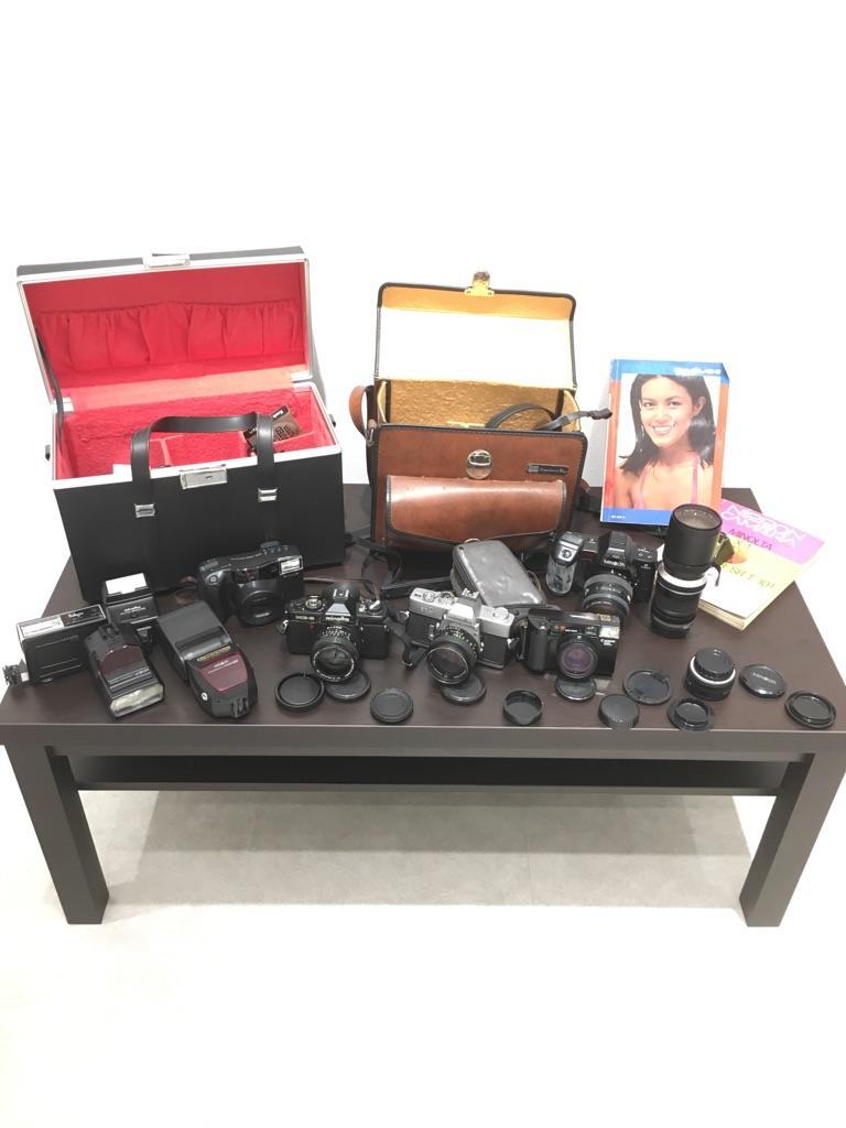 minolta SR-T XG-E Canon AF35ML ZOOM CARDIA 2000DATE MINOLTA a7700i セット