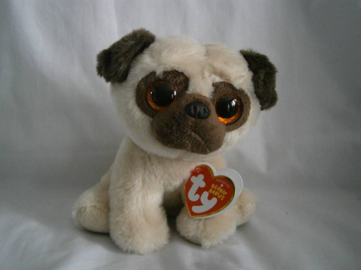 large eyes . lovely! Ty dog . soft toy Pug Rufus  Real Yahoo auction ... aad2390dc