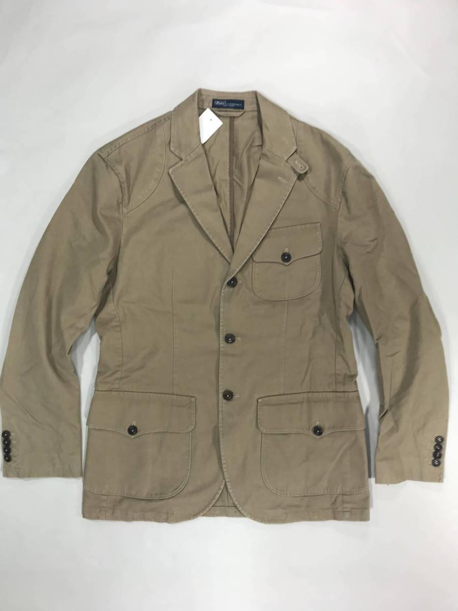 新品 11389 40R コットン ジャケット ポロ polo ラルフ スポーツ コート スーツ 三つボタン_画像1
