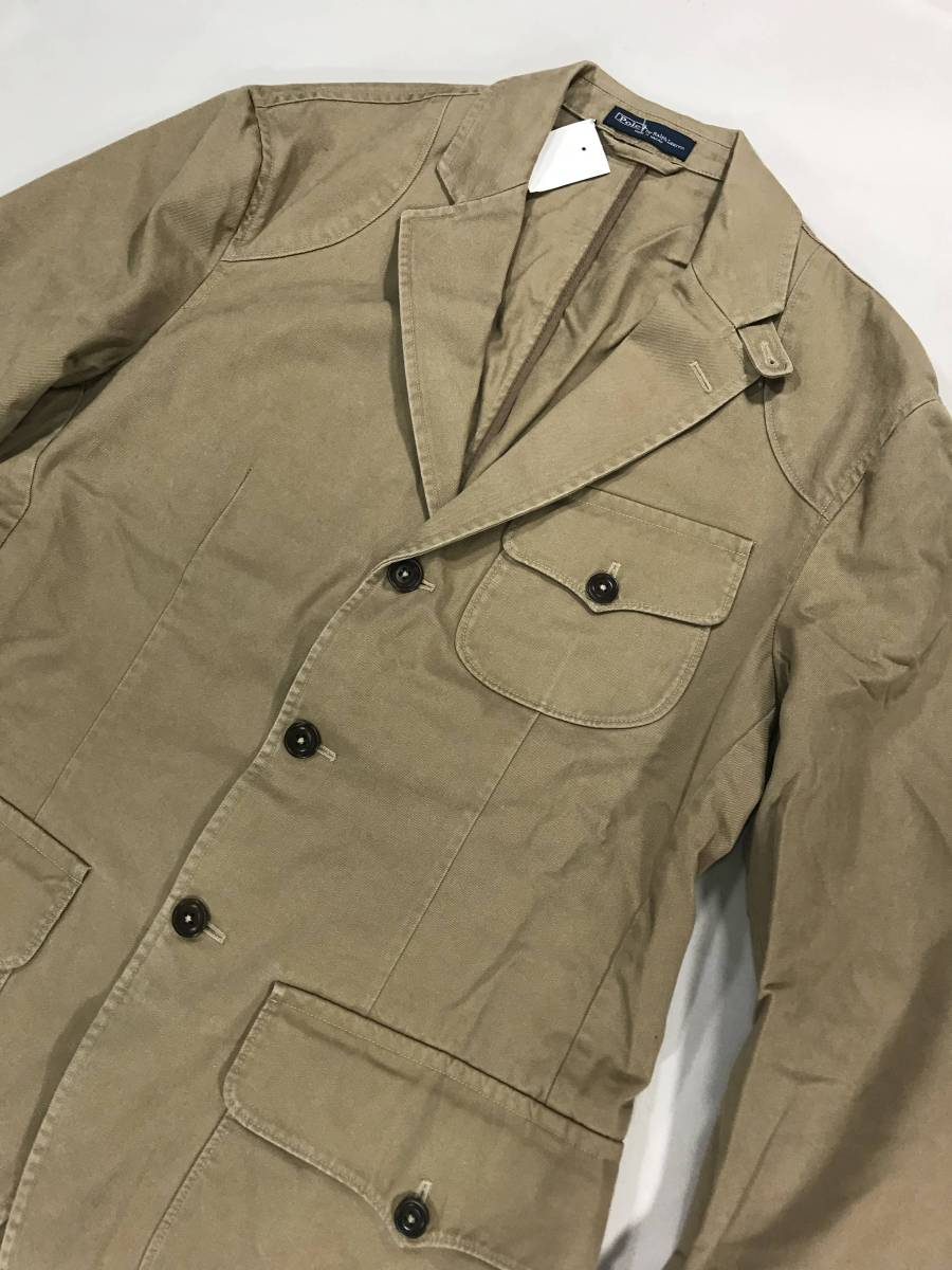 新品 11389 40R コットン ジャケット ポロ polo ラルフ スポーツ コート スーツ 三つボタン_画像2