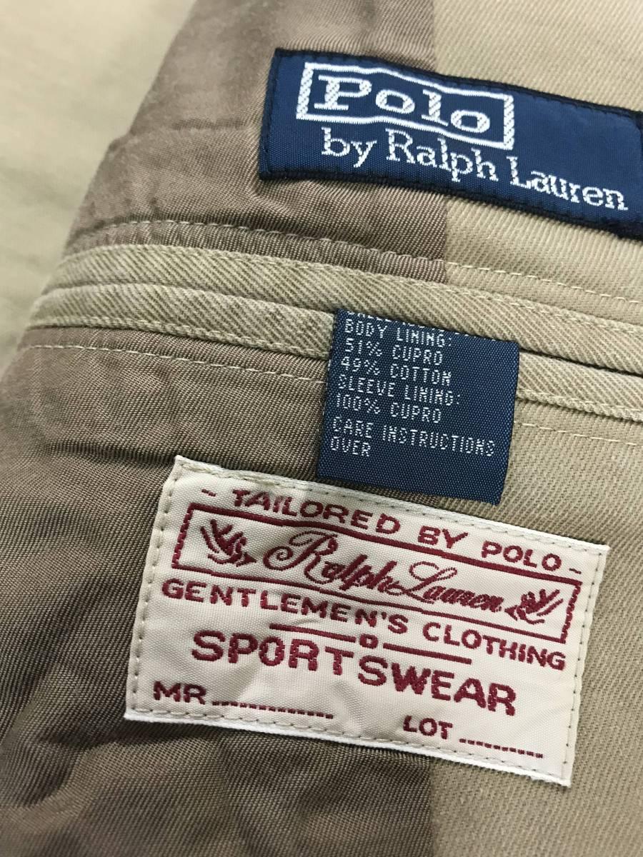 新品 11389 40R コットン ジャケット ポロ polo ラルフ スポーツ コート スーツ 三つボタン_画像4