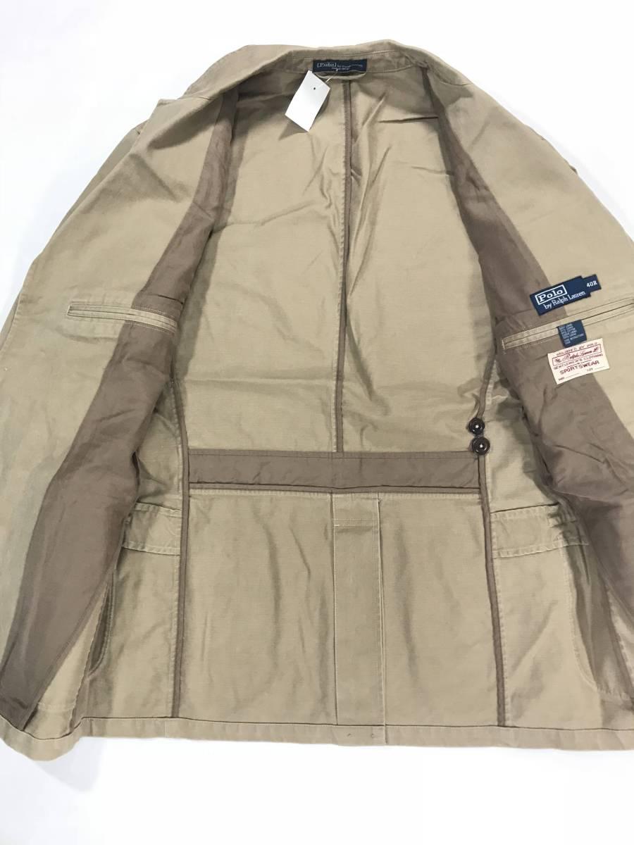 新品 11389 40R コットン ジャケット ポロ polo ラルフ スポーツ コート スーツ 三つボタン_画像5
