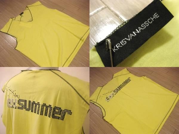 本物 名作 新品 KVA クリスヴァンアッシュ KRIS VAN ASSCHE ノースリーブ カットソー Tシャツ S_画像2