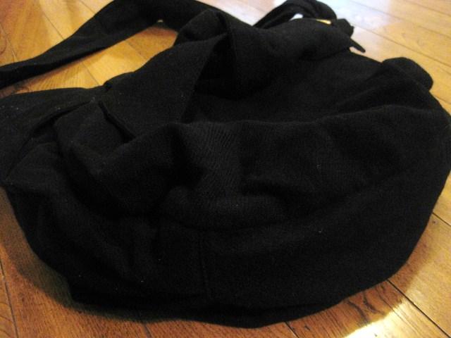名作 本物 Vivienne Westwood ヴィヴィアンウエストウッド ウール素材 リボン ショルダーバッグ 鞄 ブラック_画像8