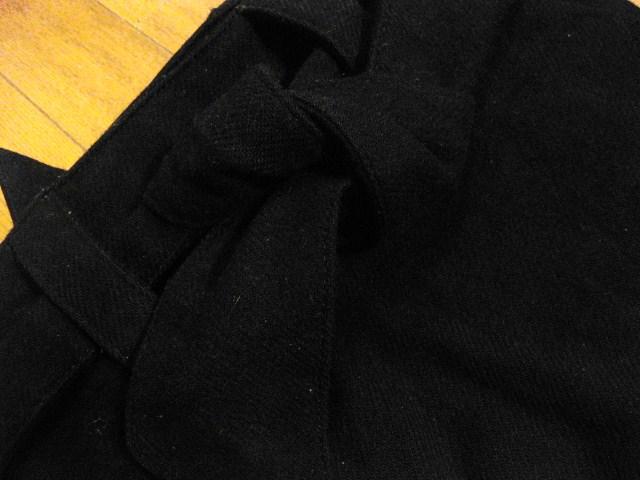 名作 本物 Vivienne Westwood ヴィヴィアンウエストウッド ウール素材 リボン ショルダーバッグ 鞄 ブラック_画像4