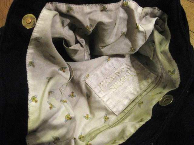 名作 本物 Vivienne Westwood ヴィヴィアンウエストウッド ウール素材 リボン ショルダーバッグ 鞄 ブラック_画像7