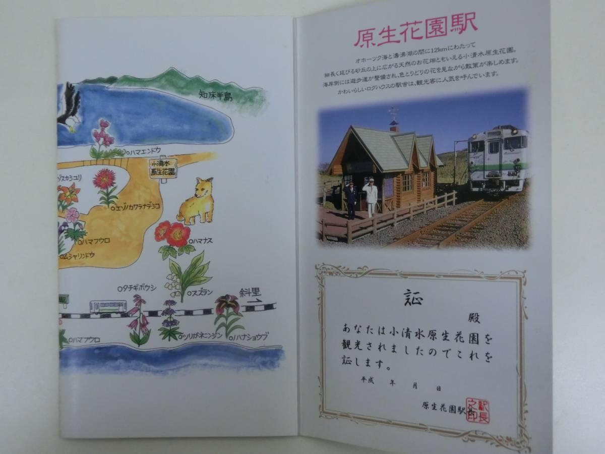 JR北海道 原生花園の花 切符 硬券 入場券_画像2