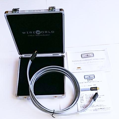 定価 168,000円 WIREWORLD PLATINUM STARLIGHT HIGH SPEED HDMIケーブル(PSH) 3m。正規品。元箱ケース付き。特にMARANTZ UD9004等にお薦め