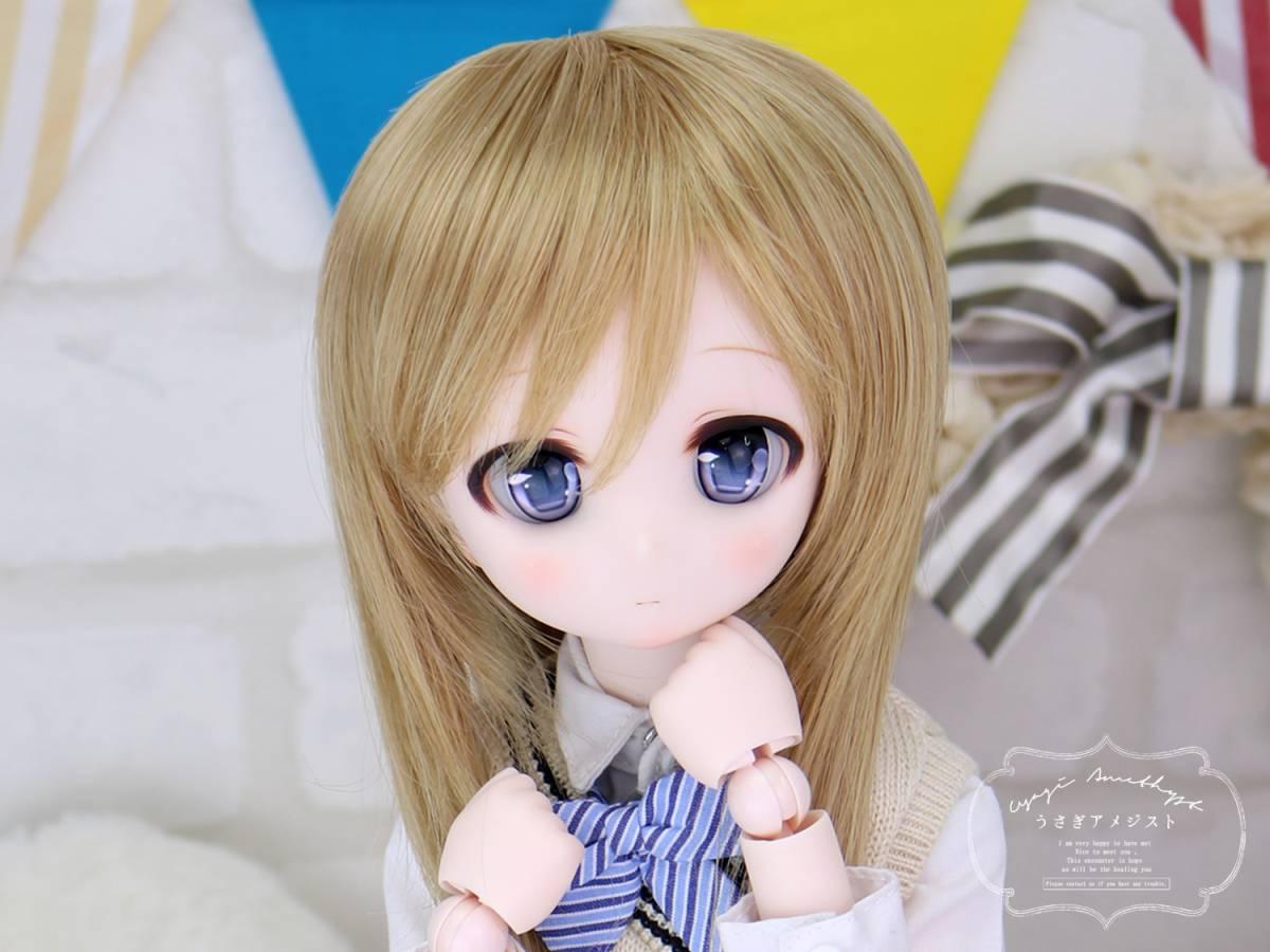 """うさアメ/DDH-01 セミホワイト肌 カスタムヘッド """"くるみ""""+アイ2種類セット_画像2"""