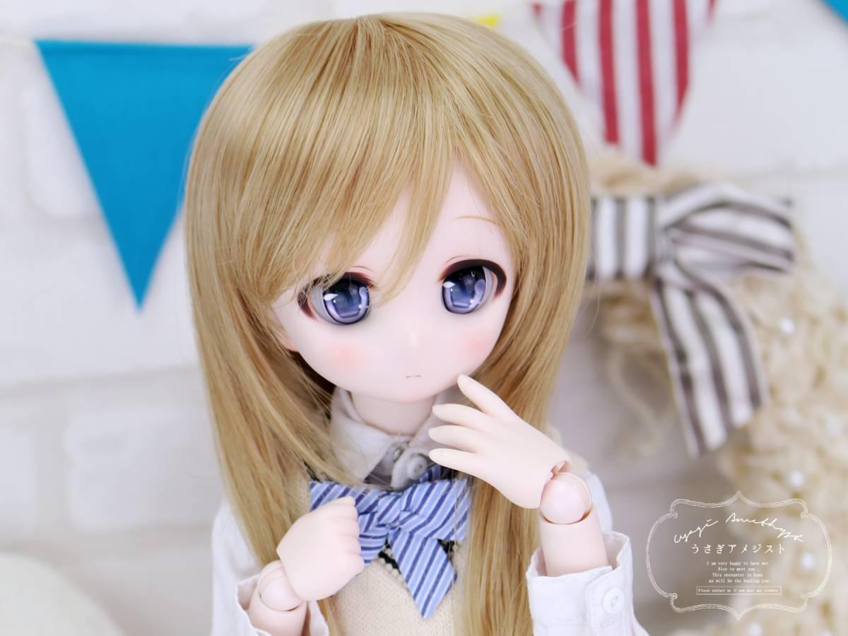 """うさアメ/DDH-01 セミホワイト肌 カスタムヘッド """"くるみ""""+アイ2種類セット_画像4"""