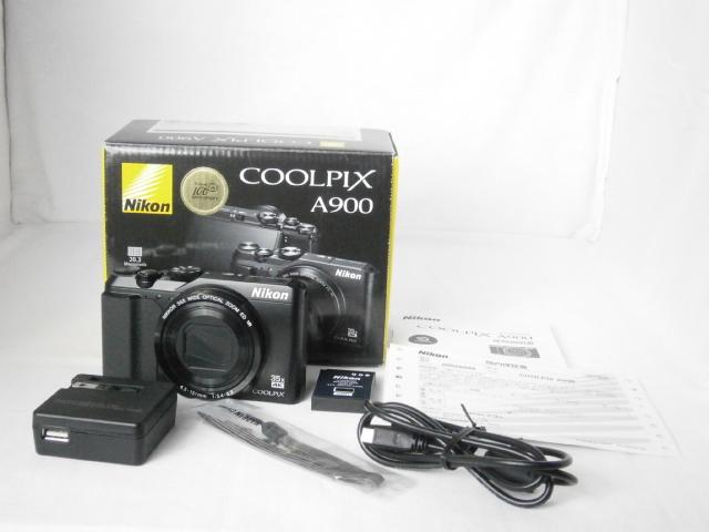 ☆美品☆ Nikon ニコン COOLPIX クールピクス A900 ブラック 付属品完備