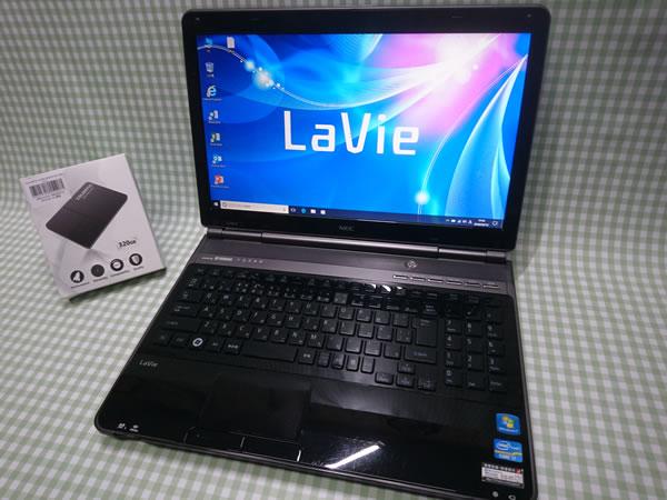 超高速 Core i7 【新品】320G SSD【超快速仕様☆Windows10】NEC LL750/E PC-LL750ES6B メモリ8G BD-RE Office 高音質YAMAHA音源 1円~