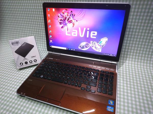 超高速 Core i7 【新品】320G SSD【超快速仕様☆Windows10】NEC LL750/F PC-LL750FS6C メモリ8G BD-RE Office 高音質YAMAHA音源 1円~