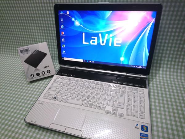 超高速 Core i7 【新品】320G SSD【超快速仕様☆Windows10】NEC LL750/E PC-LL750ES3EW メモリ8G BD-RE Office 高音質YAMAHA音源 1円~