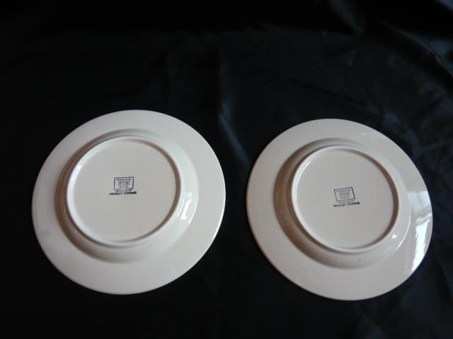 ●ミスド フィッチ社 中皿2枚セット 青色系 y-74 FITCH USA ミスタードーナツ ノベルティー_画像3