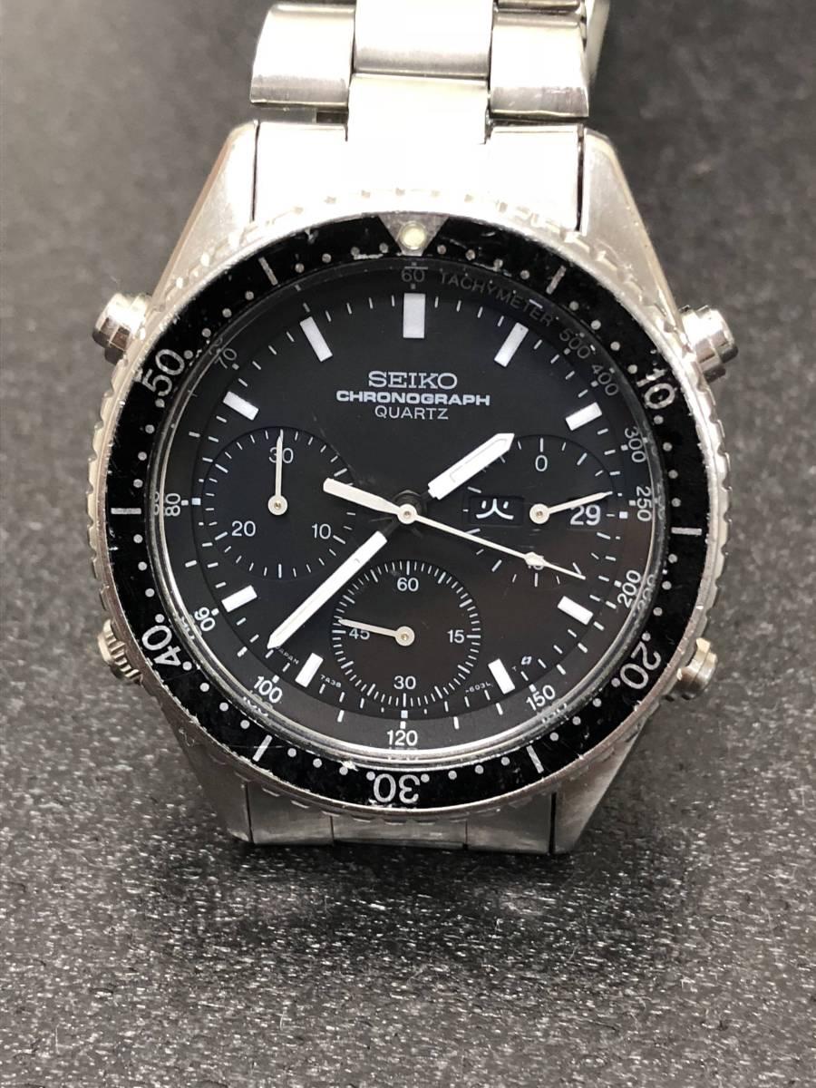 腕時計 SEIKO セイコー スピードマスター 7A38-6040 メンズクオーツ bK25