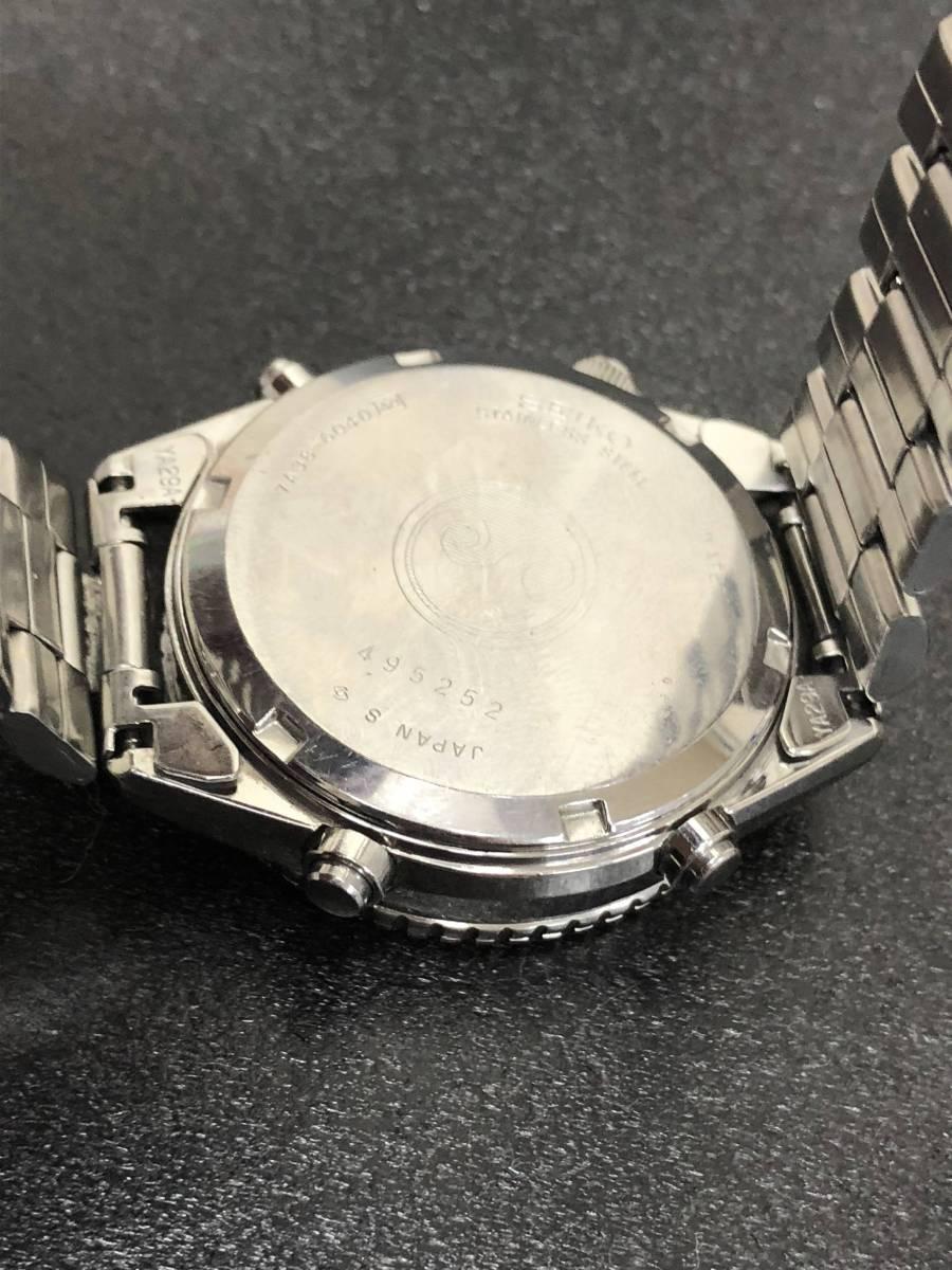 腕時計 SEIKO セイコー スピードマスター 7A38-6040 メンズクオーツ bK25_画像2