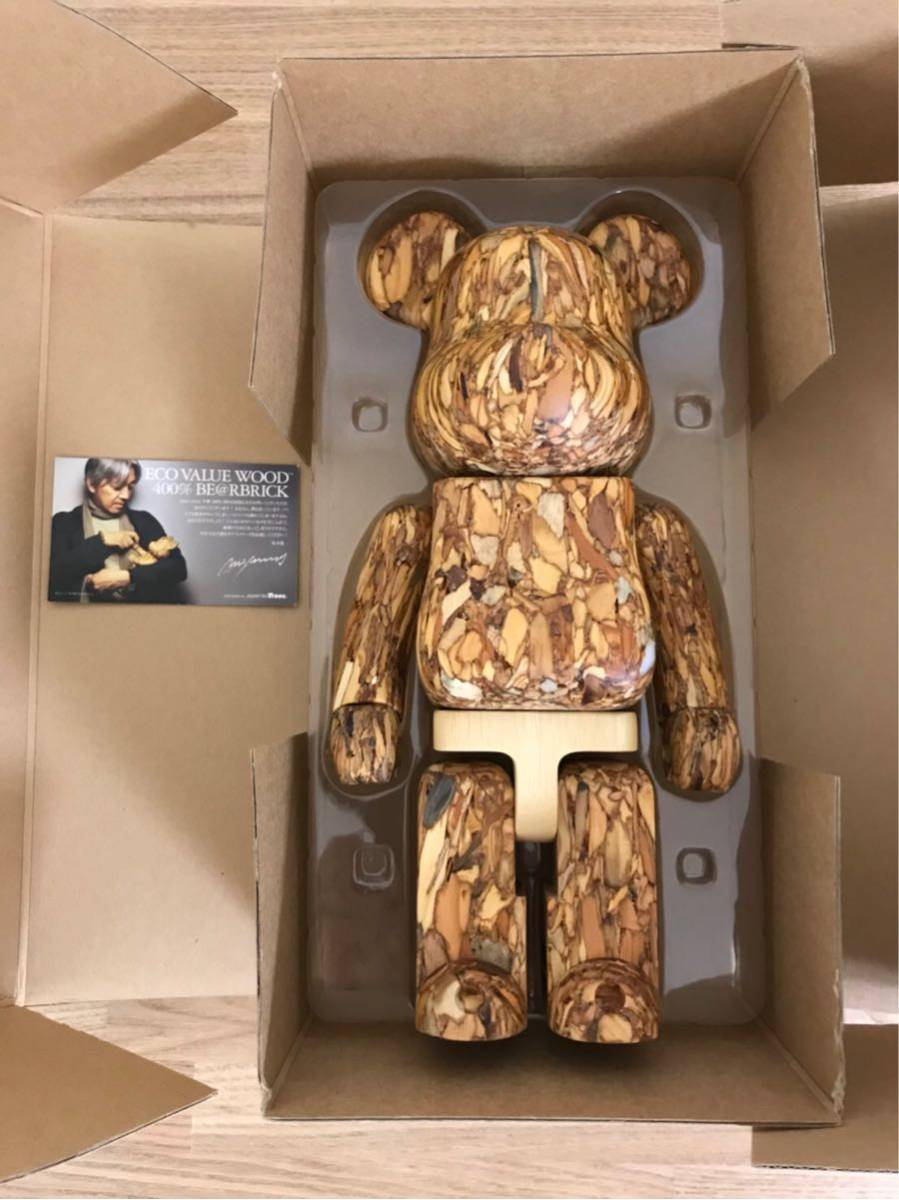 ECO VALUE WOOD (TM) 400% カリモク BE@RBRICK more trees サイン入り