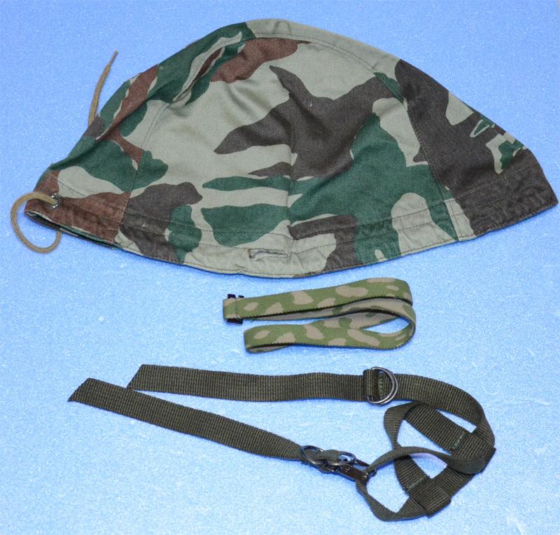 自衛隊 旧迷彩 66式 鉄帽 迷彩鉄帽覆 カバー 実物 おまけ付 熊笹 Qマーク