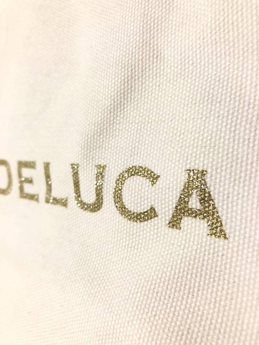 Dean&Deluca ディーン&デルーカ トートバッグ エコバッグ バッグ ホワイト ゴールド Sサイズ_画像3