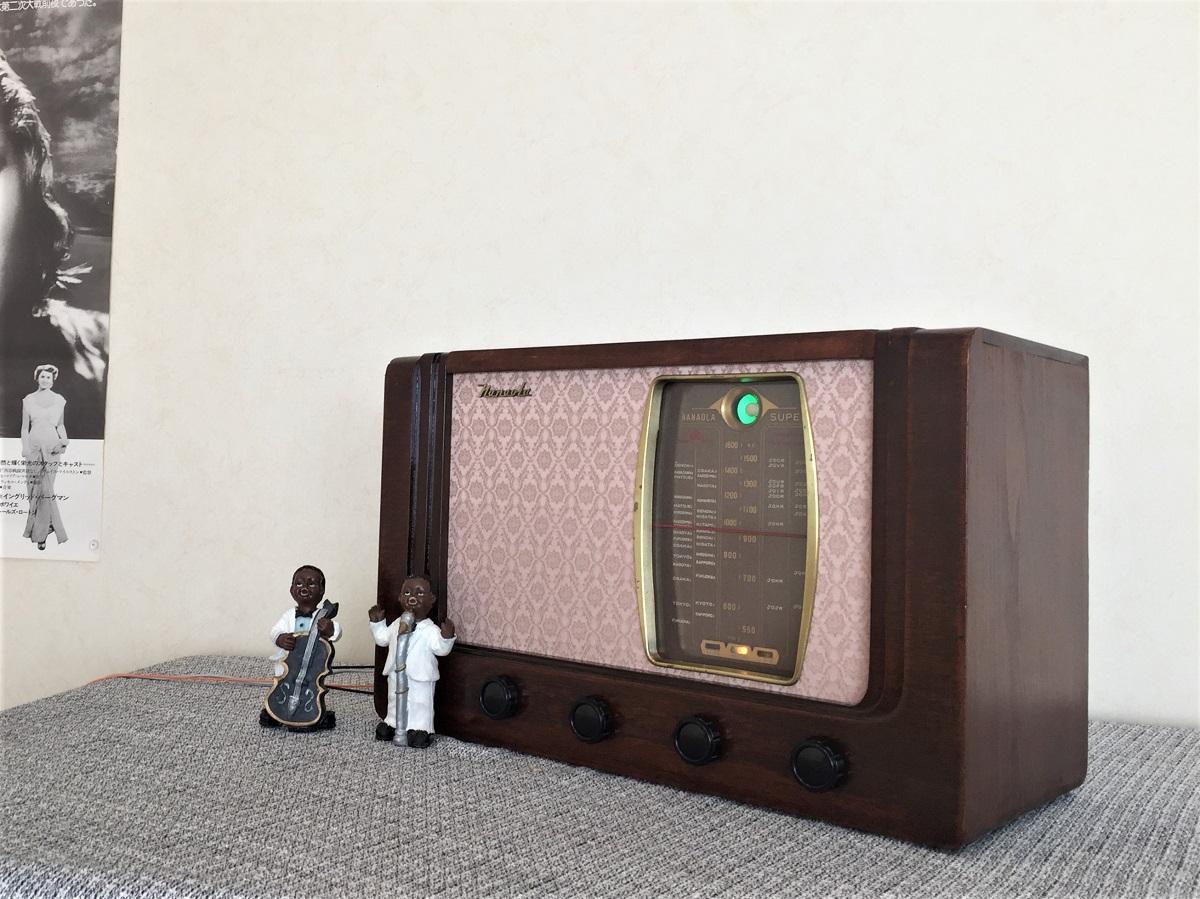 昭和の記憶 ナナオラ 真空管ラジオ 5球スーパー 整備済み_画像2